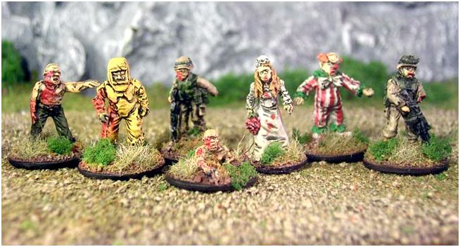 Everything zombie by two hour wargames - zombie squad marked to recognize