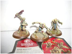 Everything zombie - miniature game - heroscapers for grabs, push it around