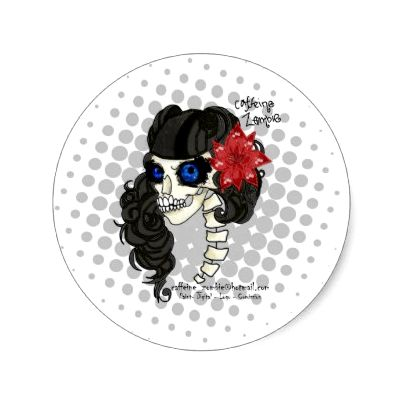 Zombie Pin UP sticker by
