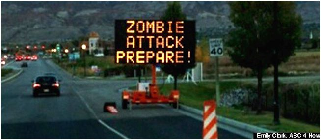 The government includes a zombie apocalypse emergency plan Anthropogenic Climatic Change, whether conflicts